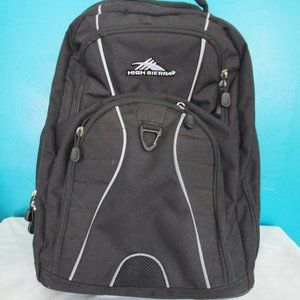 Black High Sierra Backpack With Wheels.